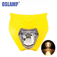 Oslamp Yellow Universal Motorcycle Headlight Fairing Kit with City Light Hi Lo Beam Bulb for Honda Yamaha Suzuki StreetFighters