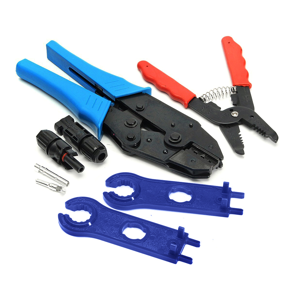 MC4 Solar Crimping Tools Hand Criper Plier Crimp Photovoltaic PV Connector Cutting Tool Wire Crimpers Solar Terminal Ratche Set 6pcs crimping hand tool set kit cable wirecutter crimping plier replaceable crimping die sets jaws terminal hand tools crimpers