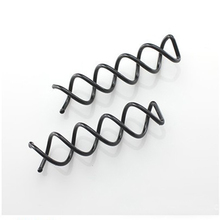 Knitting Spiral Hairpin