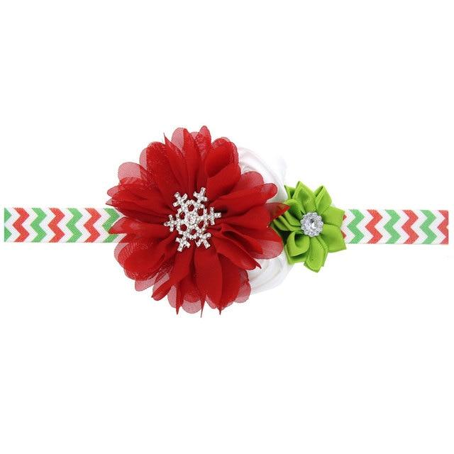 Naturalwell niños Navidad diadema flor de la gasa Bandas para la ...