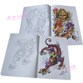 Tattoo book Flash 2013 new dragon tribe designs works manuscripts Sketch 3D Art body sketchbook painting kits free shipping
