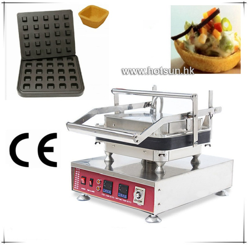 Free Shipping Heavy Duty Non-stick 110V 220V Electric 25pcs Fruits Square Box 4 Angles Waffle Maker Machine with Removable Plate free shipping professional non stick 110v 220v electric 12pcs round circle waffle cake maker machine with removable plate
