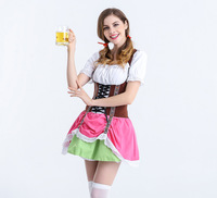 Halloween German Beer Girl Costume Fancy Dress wench beer girl Oktoberfest carnival sexy Cosplay Costume M L XL