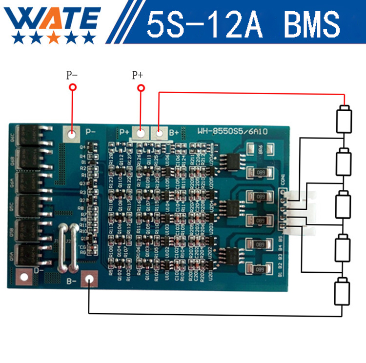 5S 12A lithium battery protection board with a balanced function 18650 battery protection 21v lithium battery protection board 30a 3s polymer lithium battery cell charger protection board pcb 18650 li ion lithium battery charging module 12 8 16v