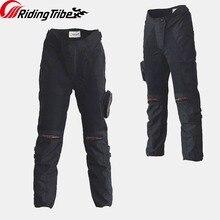 Мотоциклетные защитные штаны Riding Tribe, дышащие противоударные брюки для езды на мотоцикле, с наколенниками, весна лето, HP 02