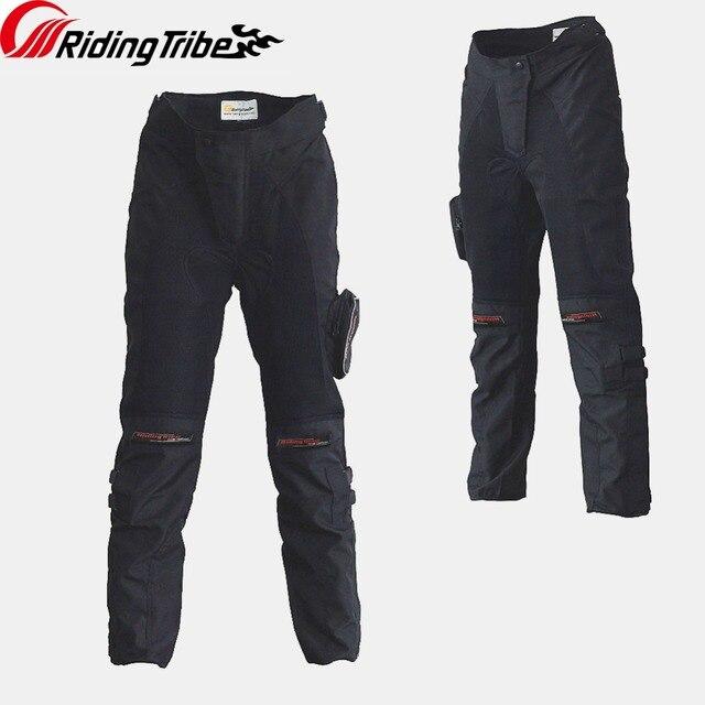 Tribo de equitação da motocicleta equitação proteção calças motorcross anticollision respirável wearable primavera verão com joelheira hp 02