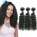 7A Deep Wave Cheap Brazilian Hair 3Pcs Human Hair Extensions Mink Brazilian Virgin Hair Bundles Deep Curly Tissage Bresilienne
