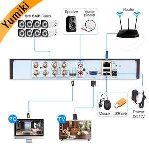 Image 2 - 6 ב 1 H.265 + 8ch AHD וידאו היברידי מקליט עבור 5MP/4MP/3MP/1080 P/ 720P מצלמה Xmeye Onvif P2P CCTV DVR AHD DVR תמיכת USB wifi