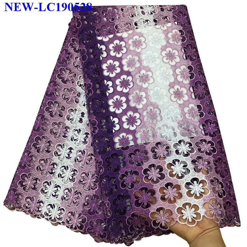 African Cord Lace Guipure Lace Fabrics High Quality 100 cotton 2019 Fashion Embroidered African Lace Fabric