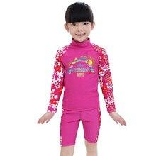 0ba72c417a BAOHULU Girls Swimwear Kids Long Sleeves UV50+ Boys Bathing Swimming Suit ( UPF50+) Children Two