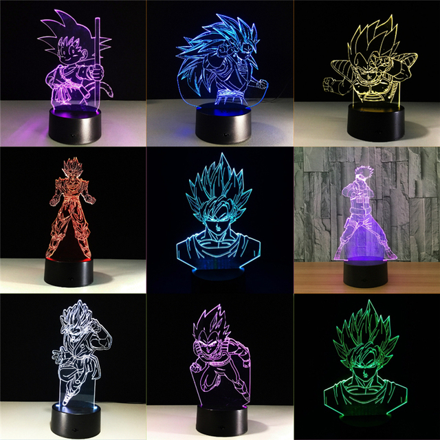 Dragon Ball Table Lamp Cool Nightlights New Year Decoration Kids Lampade Children S Gifts Lighting Led
