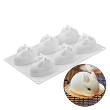 6 Cavities Rabbit Shaped Cakes Silicone Mold Mousse Chocolate Bread Mould For Baking Cake Dessert Fondant Decorating Moulds