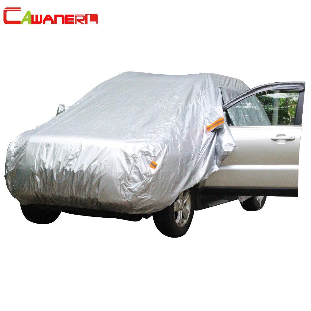 Cawanerl Автомобиль Обложка Зонт Авто седан хэтчбек открытый ВС Дождь Снег устойчивый к царапинам покрытие Anti UV пыле