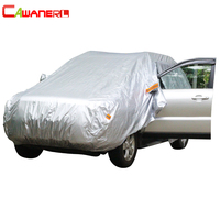 Cawanerl Car Cover Sunshade Auto Sedan Hatchback Outdoor Sun Rain Snow Scratch Resistant Cover Anti UV Dustproof