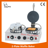 Stainless Steel Portable Industrial Non Stick Electric Round Waffle Maker KW WB1