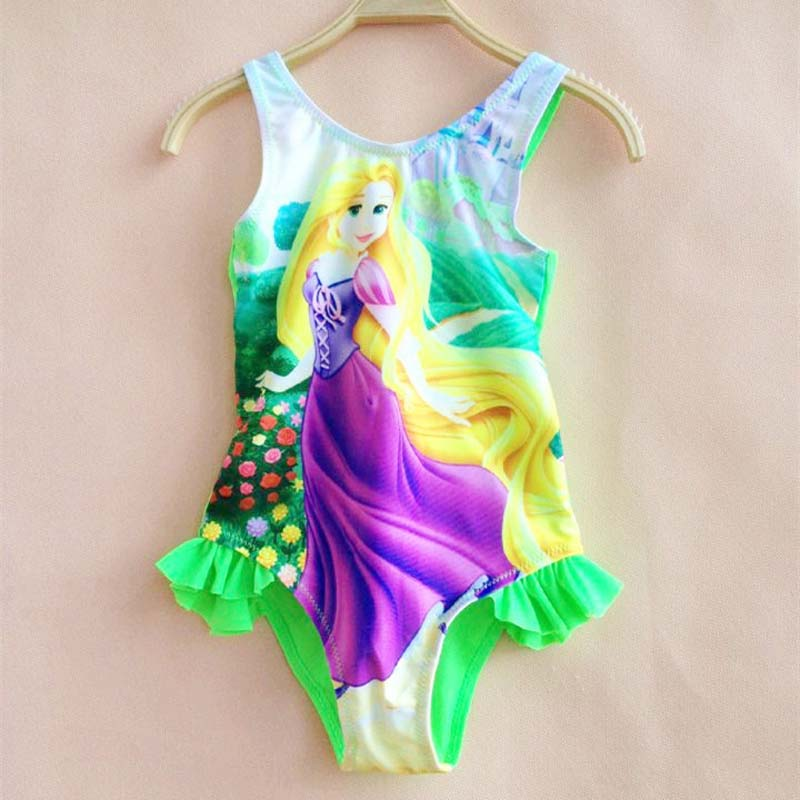 Swimsuit for Girls pink Rapunzel Tangled Bathing Suits Children Kids Cartoon Swimwear Costumes wholesale good wow perruque girls new extra long straight rapunzel tangled hot pink bangs cosplay hair wigs women for women wig