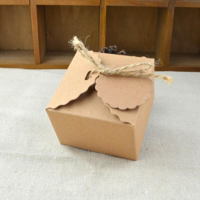 100pcs lot Kraft Paper Retro DIY Candy Box Gift Boxes Dessert Boxes for Wedding Kids Birthday Party Events Supplies in Gift Bags Wrapping Supplies from Home Garden