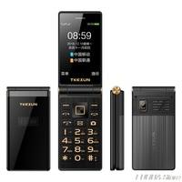TKEXUN M2 PLUS 3.0'' Big Key Font Touch Screen 3G WCDMA Flip Phone Mobile Phone One Key Dial Old Man Celulares PK G10 FM