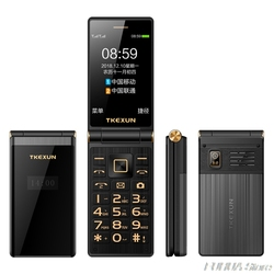 TKEXUN M2 PLUS 3.0'' Big Key Font Touch Screen 3G WCDMA Flip Phone Mobile Phone One Key Dial Old Man Celulares PK G10 FM