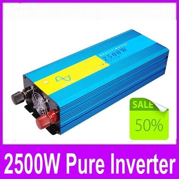 power inverter 2500w pure sine wave power inverter 12v 220v dc ac 2500W ren sinus inverter 12v 220v dc ac