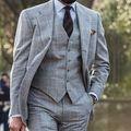 Nueva Moda Smokinges Del Novio de Solapa de Pico Padrinos de boda el Mejor Hombre de los Trajes Trajes de Fiesta Del Desgaste del Novio (Jacket + Pants + chaleco)