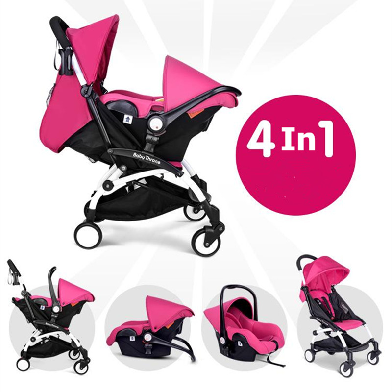 bebek arabasi 3 in 1 Baby New Stroller Carts Babies Cradle Chair With Infants Car Safe Seat Lightweight Trolleys Four carts 2017 two babies strollers for twins old bebek arabasi prams for newborns baby girl