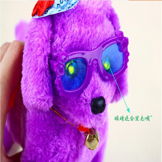 Hot sale Electric leash dog Plush Toys  Music machinery remote control  dog electronic toys  For Children Christmas Random Color