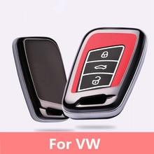 Plastic Luminous Car Smart Key Cove Case For VW Magotan Passat B8 CC Skoda A7 Smart Remote Controller 3 Buttons Key Bag