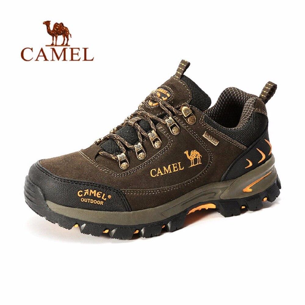 Фотография Camel Men Women Outdoor Trekking Hiking Comfortable Leather Shock Absorption Camping Climbing Outventure Hunting ShoesA632303725