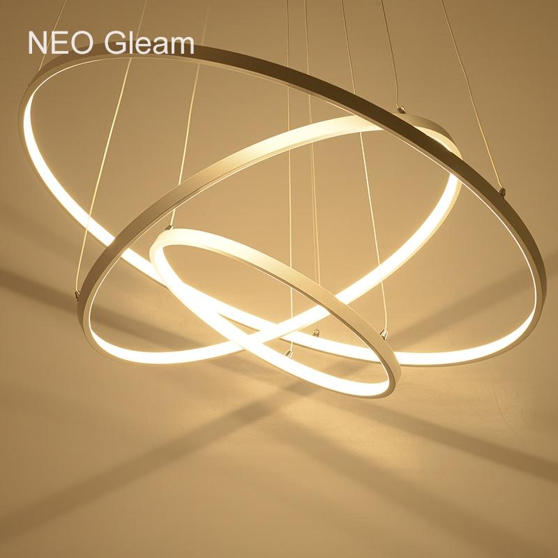 все цены на Modern LED chandelier acrylic lights lamp for dinning room living room lampadario moderno Lustre Chandelier Lighting AC85-265V онлайн