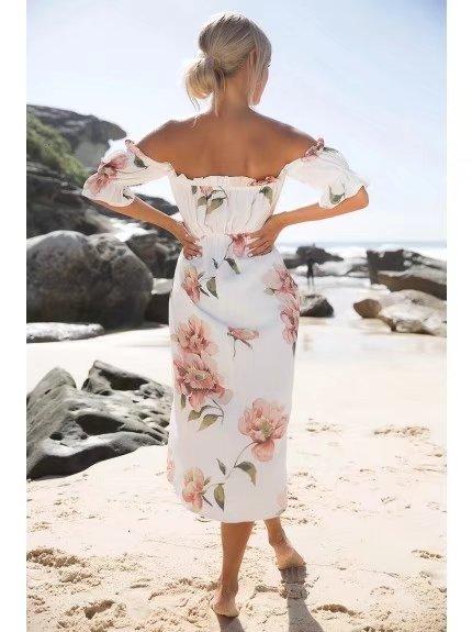 HTB1KCOPQVXXXXadXVXXq6xXFXXXt - FREE SHIPPING Women Floral Dress Sexy Beach JKP167