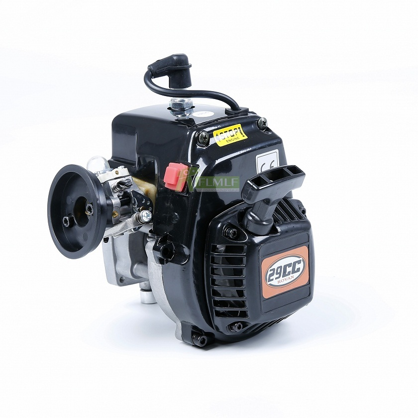 29cc 4 Bolt เครื่องยนต์ (คาร์บูเรเตอร์ Walbro และ Ngk Spark Plug) fit สำหรับ 1/5 HPI Rovan KM BAJA Losi 5ive T FG GoPed RedCat-ใน ชิ้นส่วนและอุปกรณ์เสริม จาก ของเล่นและงานอดิเรก บน   2