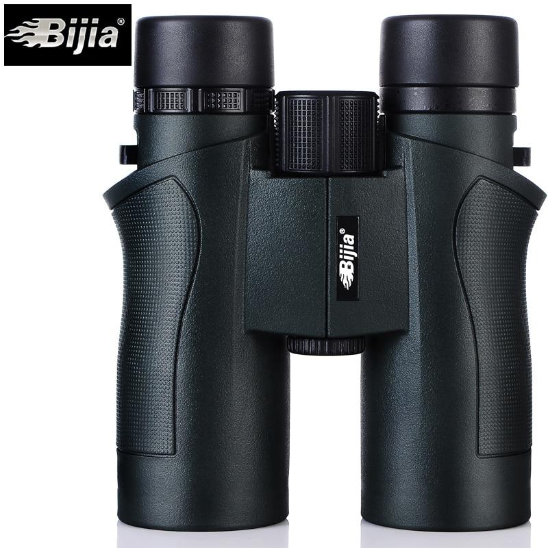 BIJIA 10x42 Binoculars Military HD High Power Telescope Professional Hunting Outdoor Sport Travel Scope Army Green Бинокль