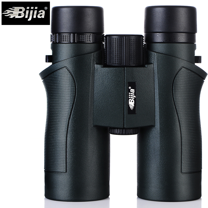 BIJIA 10x42 Binoculars Military HD High Power Telescope Professional Hunting Outdoor Sport Travel Scope Army Green original binoculars 10x42 high power hd optical lenses mc green film military telescope for hunting outdoor spotting scope