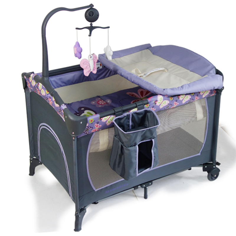 baby portable crib folding bed playpen crib travel cot 2 colors