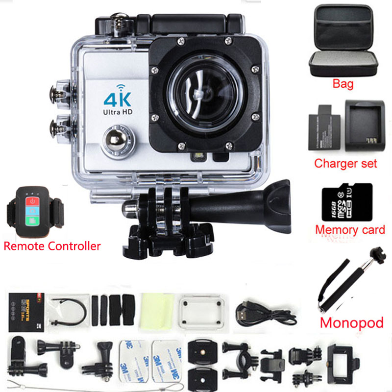 Action camera remote control Ultra HD 4K WiFi 1080P/60fps 2.0 LCD 170 lens Helmet Cam waterproof Extreme Sport camera hot ultra hd 4k camera action camera waterproof 16mp wifi extreme sports cam mini sport dv with remote control 3132
