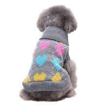 fffe8ae8cdc Warm Dog Clothes Pet Clothes Pet Dog Cat Winter Warm Love Sweater Coat  Costume Apparel Pet Supplies Ropa perro  FS 4OT18