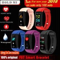Hold Mi F07 Waterproof Smart Bracelet Heart Rate Monitor Blood Pressure Fitness Tracker Smartband Sport Watch