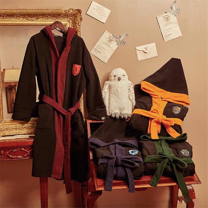 Harri Around Potter nightgown pajamas around the color matching home service loose magic school men and women to keep warm