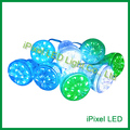 24 V turbo cap 60mm 18 leds 5050 rgb digital led pixel luz de diversões