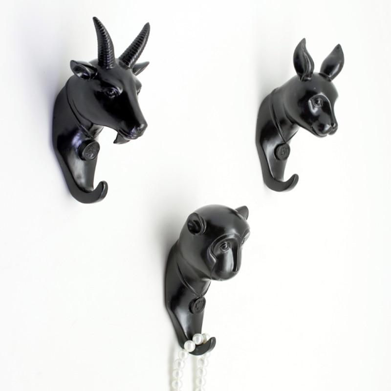 Black zodiac Robe Hook Decorative Wall Coat Hat Key Hanger ...