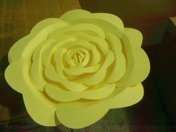 Künstliche Blumen Große Papierblumen Dekoration Papierblumen - Partyartikel und Dekoration - Foto 5