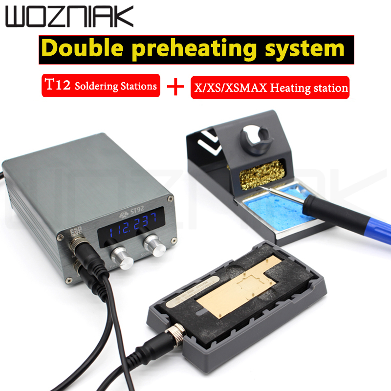 Oss St92 Universal For Iphone X XS MAX Motherboard Layered Heating Station T12 Constant Temperature Adjustable Soldering Iron