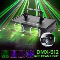 Клаит DMX 512 светодиодный светильник для сцены диско Лазерное освещение с нами вилка внутреннее украшение для Паб KTV вечерние клуб DMX Lumiere Laser