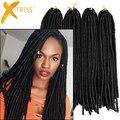 Synthetic Braiding Hair Faux Dreadlocks 20 inches 20 Roots/Pack Havana Mambo Twist Crochet Braids Hair Extensions #1 Faux Locs
