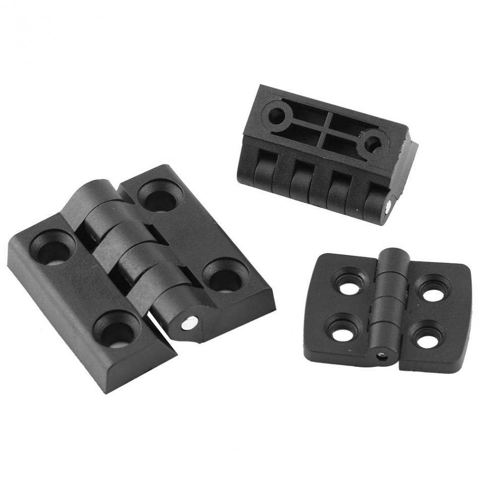 US $5 13 15% OFF|10pcs Hinges Black Color Nylon Plastic Butt Hinge for  Wooden Box Furniture Electric Cabinet durable-in Door Hinges from Home