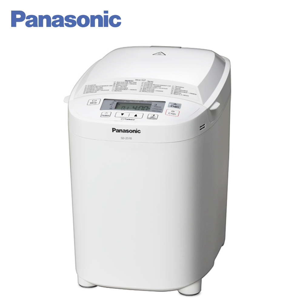 Panasonic Bread Makers SD-2510WTS toaster home appliances breadbasket bread toaster bosch toaster tat3a014 bread household baking 2 slices slots for breakfast toast machine automatic zipper