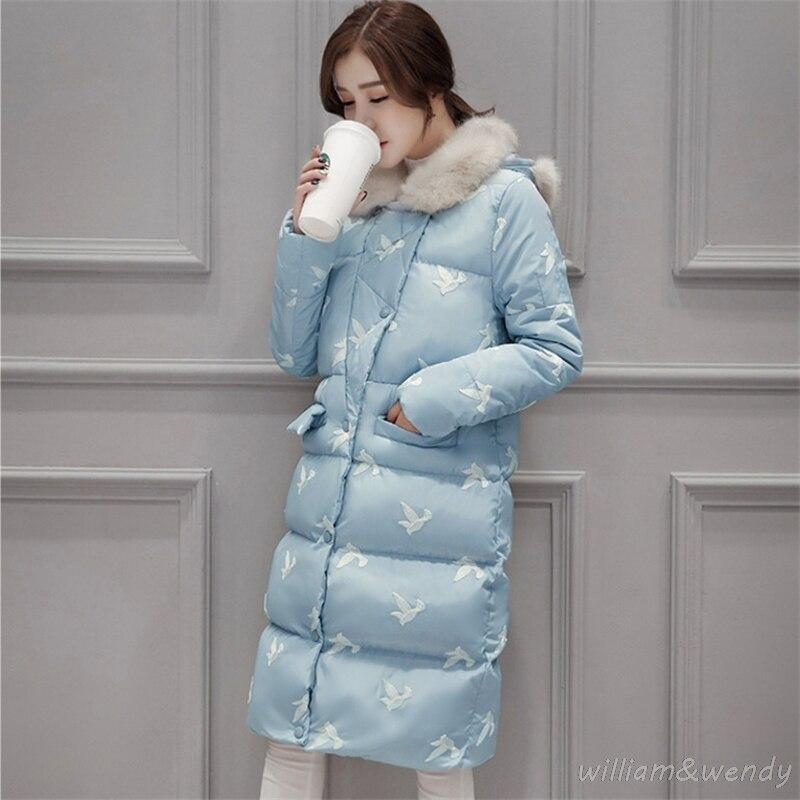 Woman Ukraine Winter Warm Windcheater Hooded Cheap Long Suit Big font b Jacket b font Thick