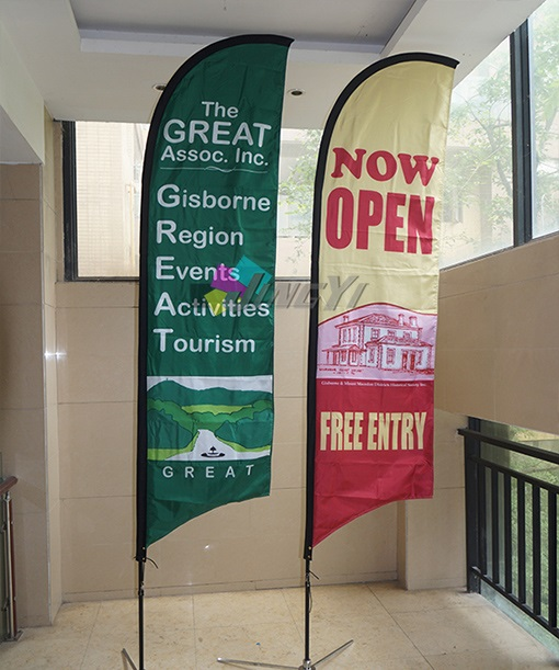 US $481 0  4m Tall Custom printing Feather Flags, High quality customized  Outdoor Advertising Feather Display Beach Banner Flag-in Flags, Banners &