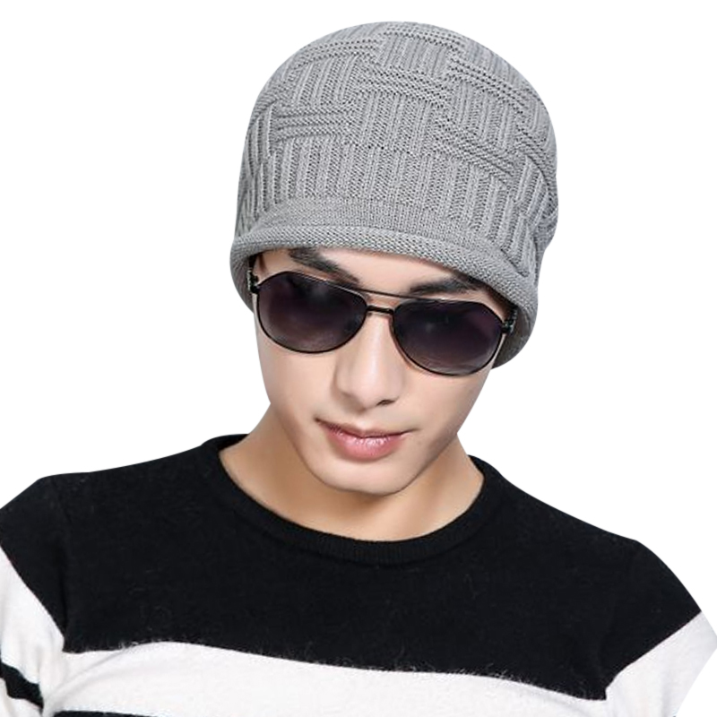 2017 Knitted Warm Men Beanies Cap Autumn Winter Hats For Men Cotton Thick Warm gorro bonnet chapeu male hip hop streetwear caps 2017 knitted warm men beanies cap autumn winter hats for men cotton thick warm gorro bonnet chapeu male hip hop streetwear caps